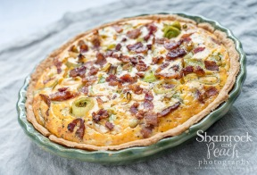 Bacon, Leek and Sweet Potato Quiche