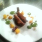 Breast of Thornhill Duck - Beetroot, Carrot Cream, Wild Mushrooms, Water Cress Puree, Orange Jelly and Duck and Orange reduction