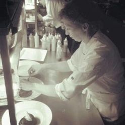 Plating at the Catalina restaurant at the Lough Erne
