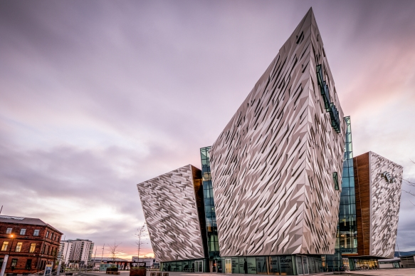 Titanic Belfast - Shamrock and Peach Photography