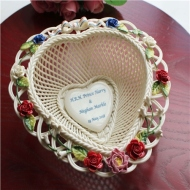 Belleek Heart Weave